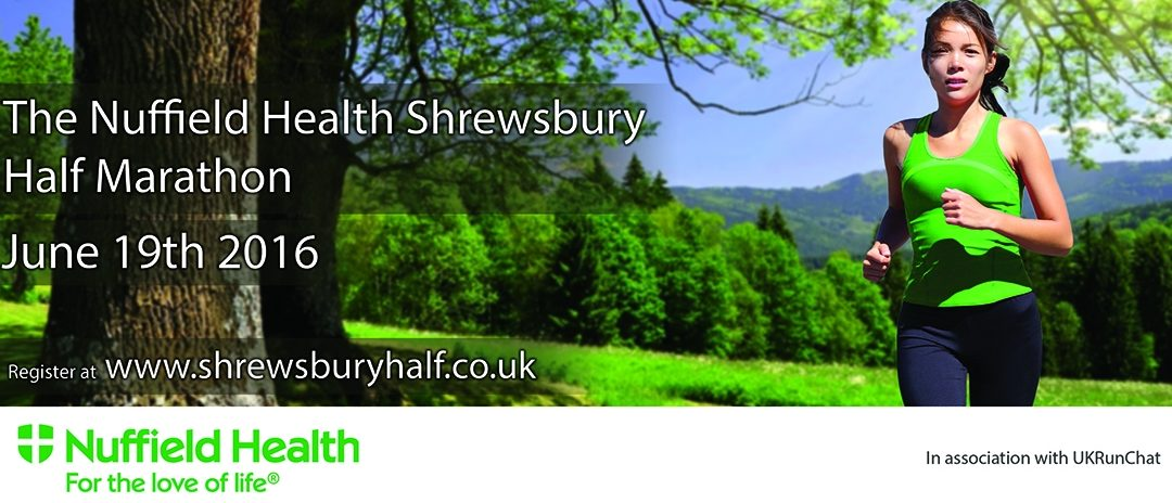 Good Luck Shrewsbury Half Marathoners