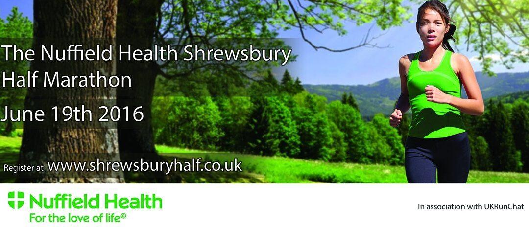 Shrewsbury half marathon 2016 flyer