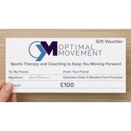 Optimal Movement £100 Gift Voucher